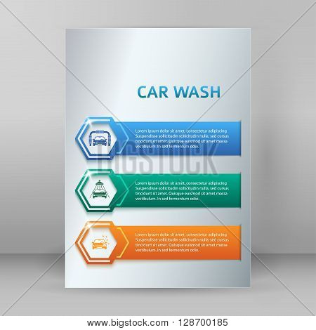 Carwash Booklet Format A4 Brochure Layout Pages