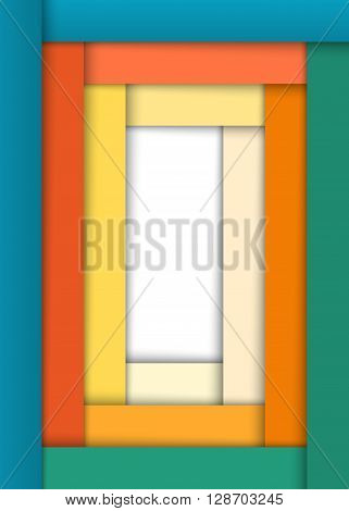 Cover Page Of A4 Format Notebook Wide Strips Background