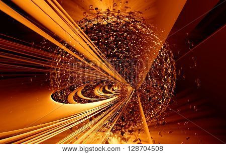 3D rendering, abstract futuristic background