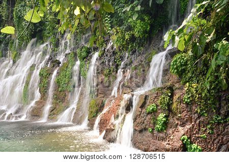Chorros de la Calera waterfalls in a small town of Juayua Ruta de las Flores itinerary El salvador