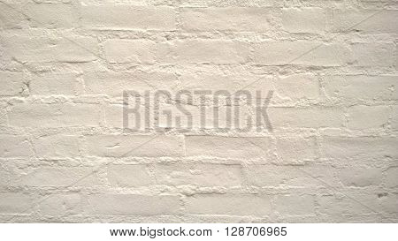 A simple white painted brick wall background