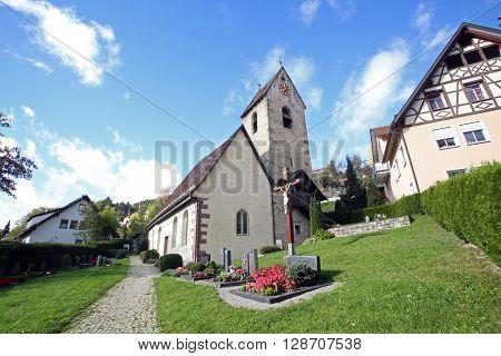 IHLINGEN, GERMANY - OCTOBER 21: Church of Saint James in Ihlingen, Germany on October 21, 2014.