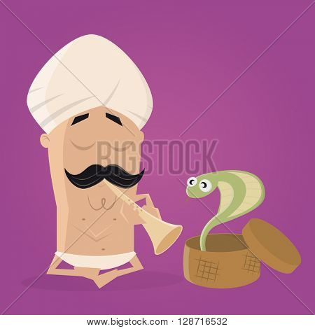 snake charmer cartoon clipart
