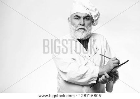 Bearded Cook Writing Recipe