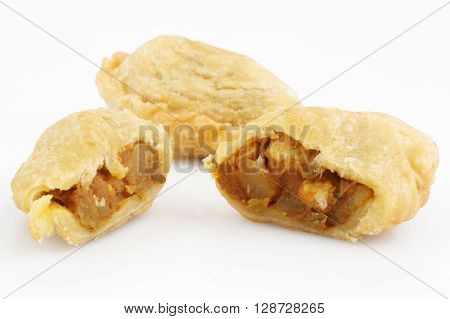 Asian traditional dessert or snack isolated on white background