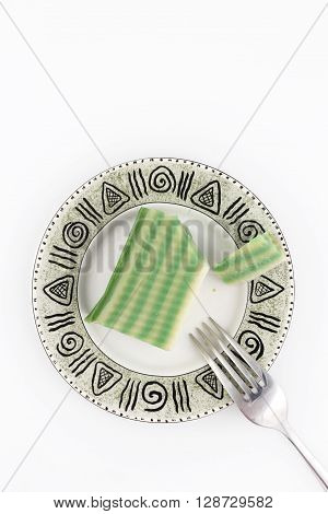 Top view of traditional chinese dessert on the plate