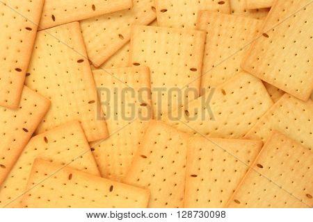 High resolution biscuits background - top vie