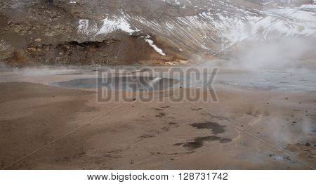 Gunnuhver Geothermal field in the island of Iceland