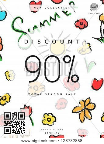 Discount 90. Discounts price tag. Summer discount. Black Friday. Clearance Sale. Discount coupon. Discount summer. Sale discount