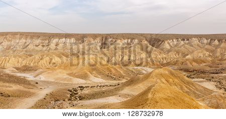Magestic Panorama Of Mountains In Negev Desert