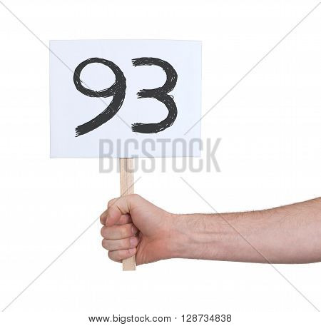Sign With A Number, 93