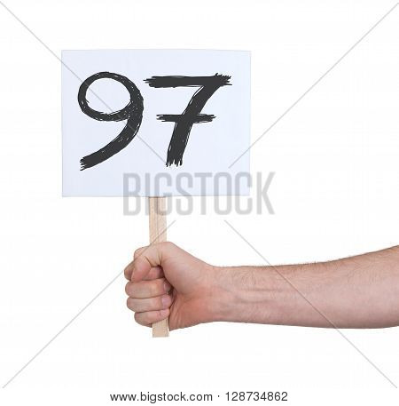 Sign With A Number, 97