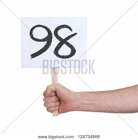 Sign With A Number, 98