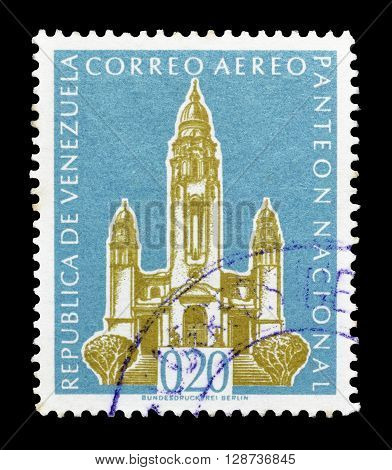 VENEZUELA - CIRCA 1960 : Cancelled postage stamp printed by Venezuela, that shows National Pantheon.