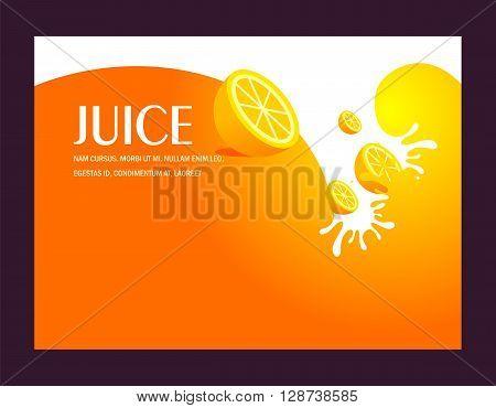 orange juice fruit liquid drops splash lemon background
