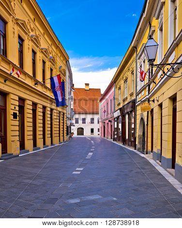 Street of baroque town Varazdin northern Croatia