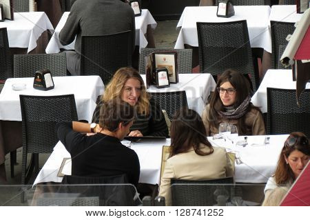 People Having Dinner Outdoors