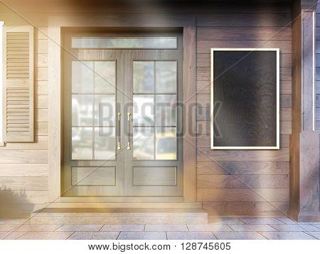 Cafe Exterior Chalkboard Closeup
