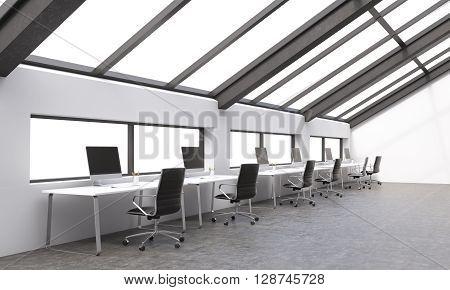 Concrete Coworking Area