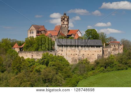 Viewpoint of the medieval castle Ronneburg,Wetterau, Hesse,Germany