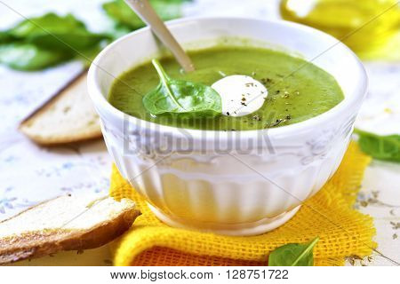 Spinach Creamy Soup.