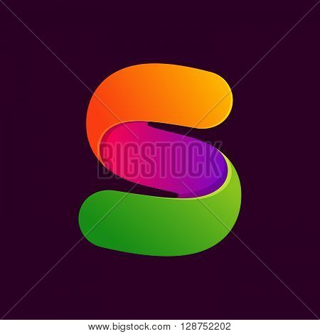 S Letter One Line Colorful Logo.