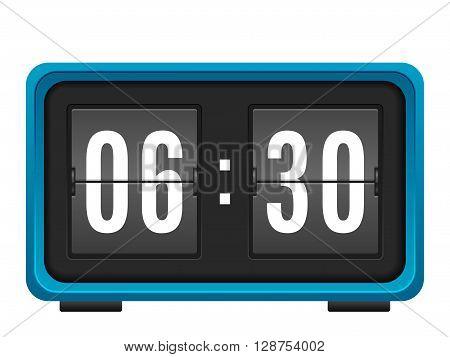 Flip clock on a white background. Vector illustration.