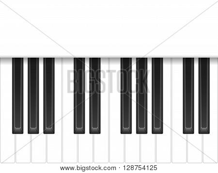 Piano keyboard on a white background. Vector illustration.