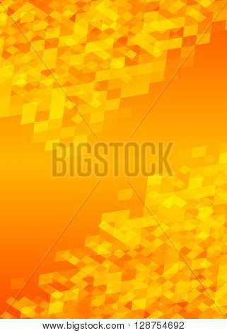 Hot Yellow Background Brochure Layout Page Magazine Format A4