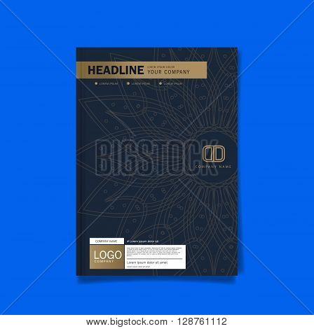 Cover Business brochure flyer cover design layout template in A4 size with Premier design template background vector eps10.