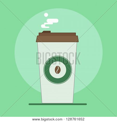 Coffee Cup Isolated. Hand drawn vector stock illustration