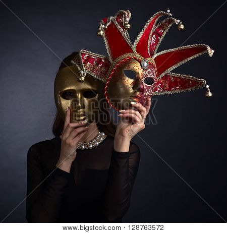Beautiful Woman With Carnival Mask