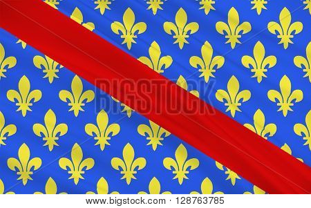 Flag of Allier is a French department located in the Auvergne-Rhone-Alpes region of central France named after the river Allier.