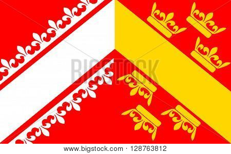 Flag of Alsace is a cultural and historical region in eastern France now located in the administrative region of Alsace-Champagne-Ardenne-Lorraine.