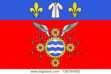 Flag of Argenteuil is a commune in the northwestern suburbs of Paris France