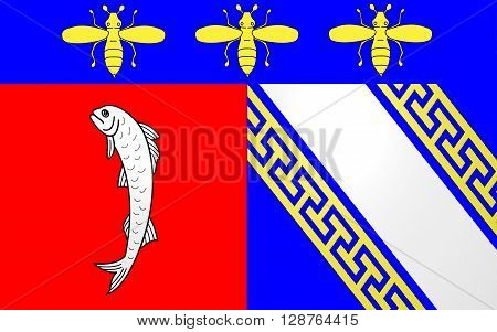 Flag of Bar-sur-Aube is a French commune and a sub-prefecture in the Aube department in the Champagne-Ardenne region of France