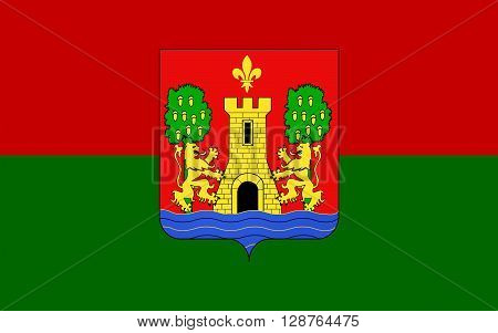 Flag of Bayonne is a city and commune and one of the two sub-prefectures of the department of Pyrenees-Atlantiques in the Aquitaine region of south-western France