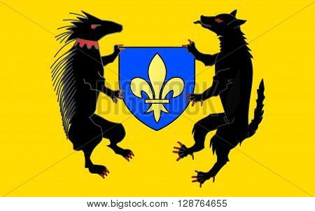 Flag of Blois is a city and the capital of Loir-et-Cher department in central France