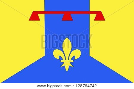 Flag of Bouches-du-Rhone is a department in the south of France named after the mouth of the Rhone River