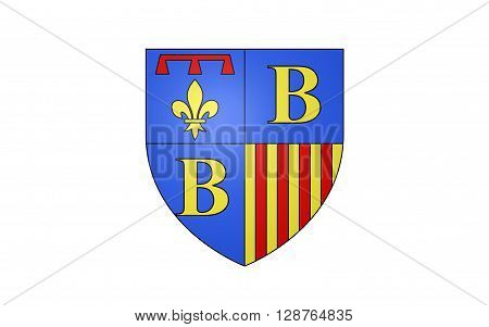 Flag of Brignoles is a commune in the Var département in the Provence-Alpes-Cote Azur region in southern France. It is a sub-prefecture of the department.