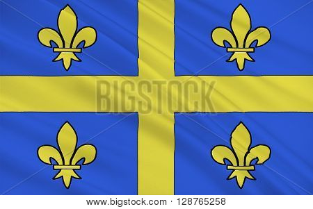 Flag of Chalons-en-Champagne is a city in France. It is the capital of both the department of Marne and the region of Champagne-Ardenne despite being only a quarter the size of the city of Reims.