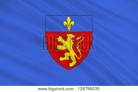 Flag of Charolles is a commune in the Saone-et-Loire department in the region of Bourgogne in eastern France.