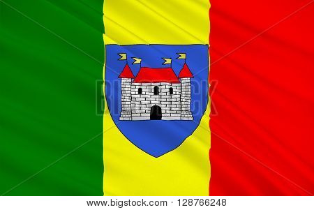 Flag of Chateauroux is the capital of the Indre department in central France and the second-largest town in the province of Berry after Bourges. Its residents are called Castelroussins.