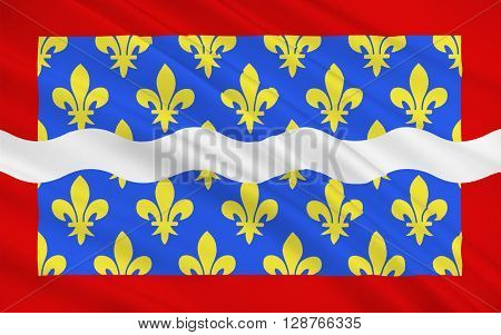 Flag of Cher is a department in the Centre-Val de Loire region of France. It is named after the Cher River.