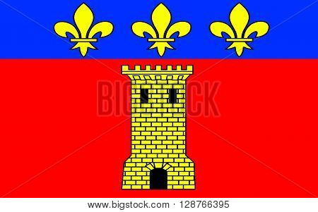 Flag of Clermont is a commune in the Oise department in northern France.