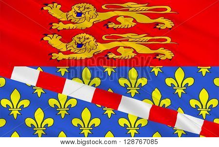 Flag of Eure is a department in the north of France named after the river Eure.