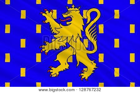 Flag of Franche-Comte - French Legion of four departments - Doubs Jura Haute-Saone and Territoire de Belfort. The two largest cities and Besancon Belfort-Montbeliard.