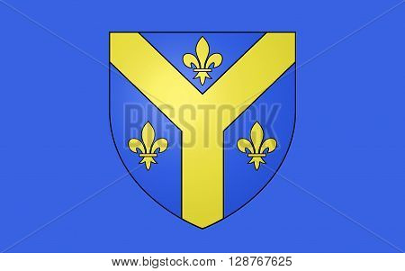 Flag of Issoudun is a commune in the Indre department in the central region of France