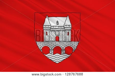 Flag of Jonzac is a commune of the Charente-Maritime department in southwestern France.