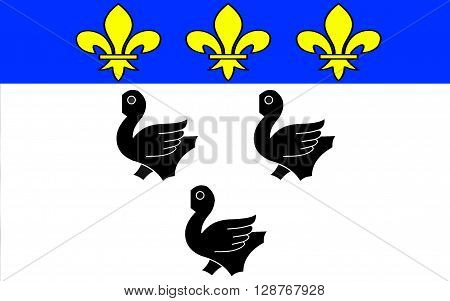 Flag of Laon is the capital city of the Aisne department in Picardy northern France